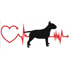 Heartbeat Dog – Bull Terrier