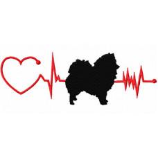 Heartbeat Dog - Keeshond