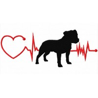 Heartbeat Dog – Staffy