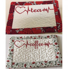 Heartbeat Tea and Coffee Mug Rugs