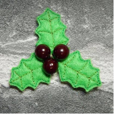 Holly Sprig Brooch Pin