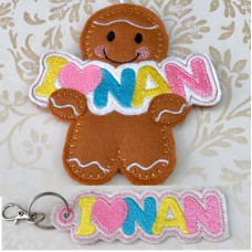 I Love Nan Ginger and Key Tab