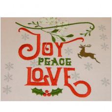 Joy Peace Love - Christmas Wordart