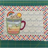 June Mug Rug and Coaster