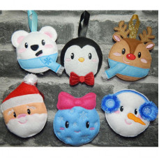 Kawaii Christmas Baubles