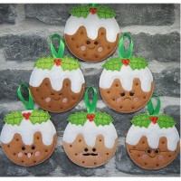 Kawaii Christmas Puddings