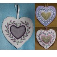 Lavender Heart Sachet