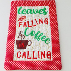 Leaves are Falling Mug Rug