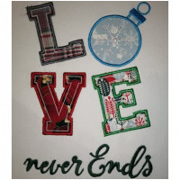 LOVE Never Ends Applique Design