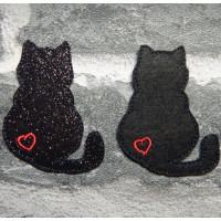 Lucky Black Cat Brooch Pins
