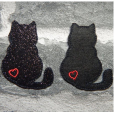 Lucky Black Cat Brooch Pins