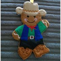 Man Line Dancing Cowboy Ginger