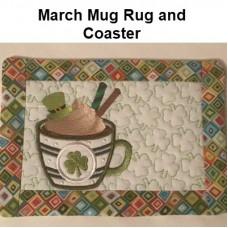 March Mug Rug and Coaster