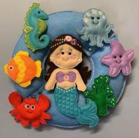 Mermaid and Sea Pals Wreath