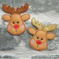 Mini Reindeer Brooches