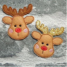 Mini Reindeer Brooches