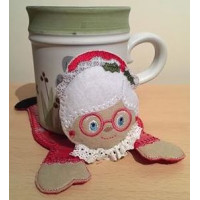 Mrs Claus Mug Coaster