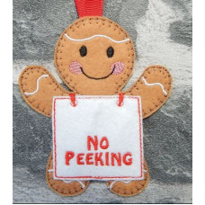 No Peeking Placard Gingers