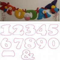 Stuffed Numbers and Birthday Set