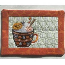 October Mug Rug and Coaster