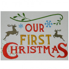 Our First Christmas - Christmas Wordart