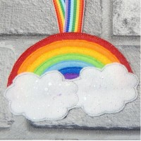 Rainbow and Clouds Hanger