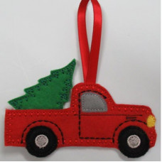 Red Truck Hanger and Tree