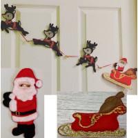 Santa and Reindeer Wall Hanging Addon Set