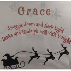 Santa and Rudolph Pillow