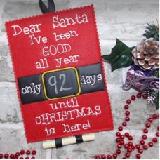 Santa Chalkboard Countdown