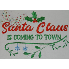Santa Claus Is Coming To Town - Christmas Wordart