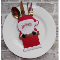 Santa Cutlery Pocket