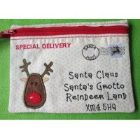 Santa Envelope Zippy Bag