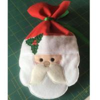 Santa Face Treat Bag