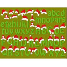 Santa Hat Letters