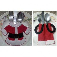 Santa Jacket and Trousers Cutlery Holders