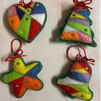 Scrap Patch Christmas Ornaments