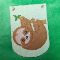 Sloth Applique Bunting