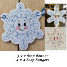 Snowflake Hangers and Banner