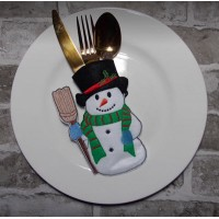 Snowman Cutlery Pocket