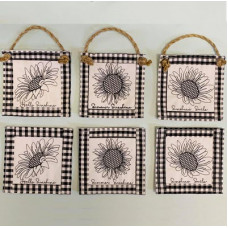 Sunflower Sketch Sachet Coaster