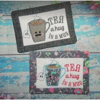 Tea and Coffee Hug in a Mug Rugs