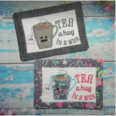 Tea and Coffee Hug in a Mug Rugs
