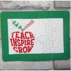 Teach Inspire Mug Rug