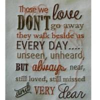 Those we love - Human footprints