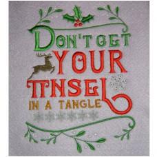 Tinsel Tangle - Christmas Wordart