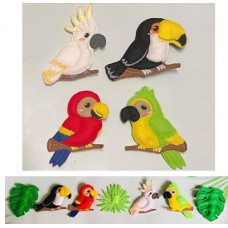 Tropical Birds Hangers and Banner