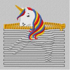 Unicorn 3D Illusion Pocket