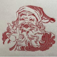 Vintage Line Art Santa