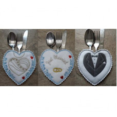 Wedding Cutlery Pockets